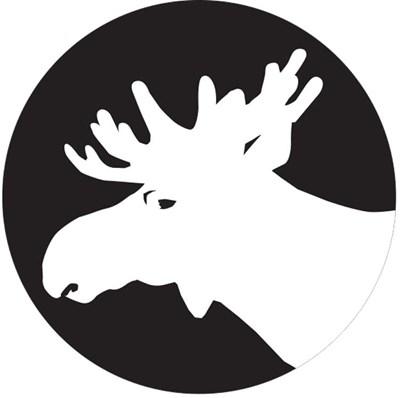 moose head. illustration