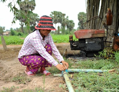 Use of groundwater for irrigation in Kandal Province, Cambodia