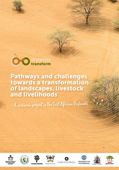 Front page of Drylands Transform brochure
