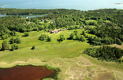 Aerial photo from the province of Uppland