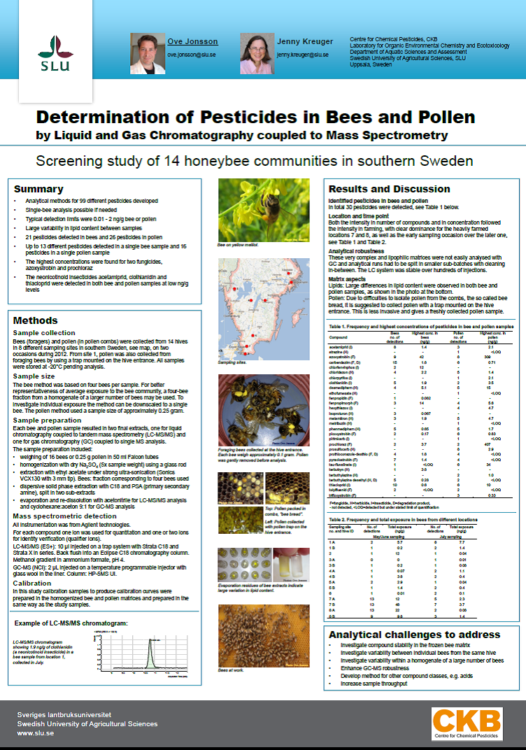 Poster bees and pollen