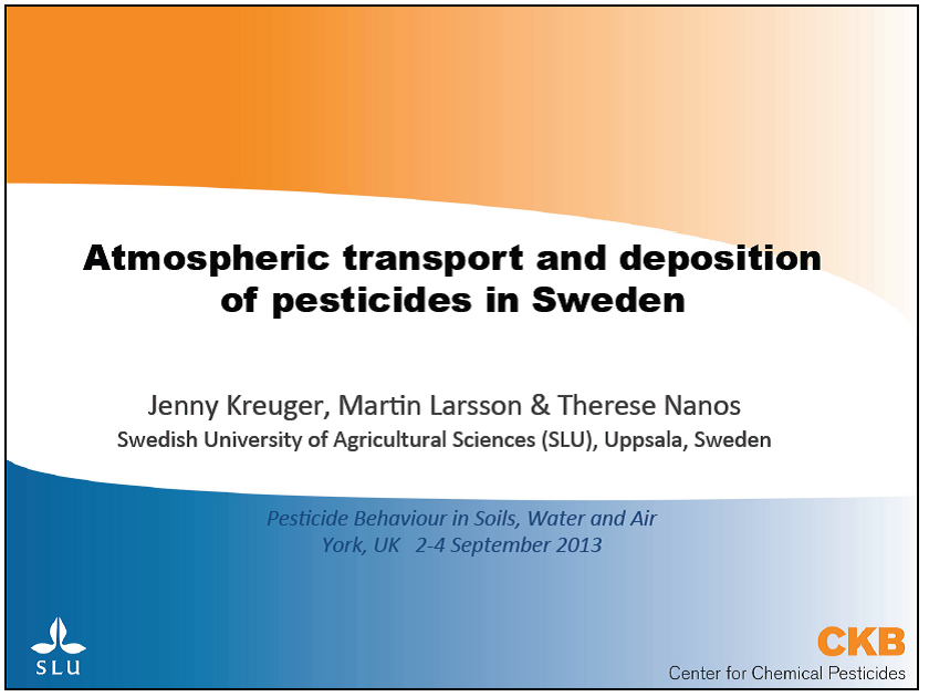 Presentation atmospheric transport and deposition