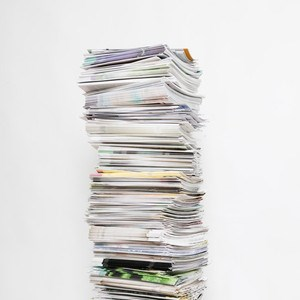 A pile of magazines. Photo.