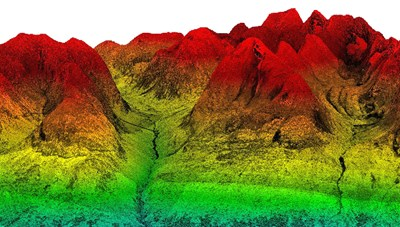 Point cloud from the mountains. Image.