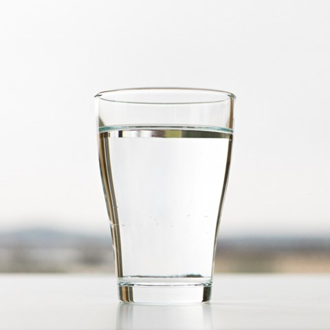 A glass of water. Photo.