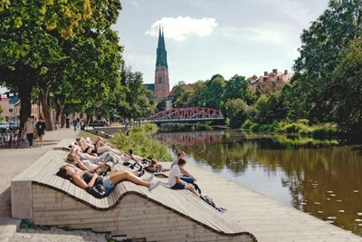 Central Uppsala in summer